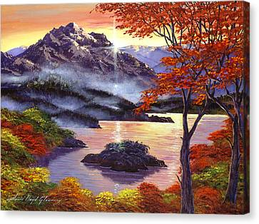 Recommended Canvas Print - Sunrise Over Mystic Lake by David Lloyd Glover