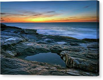 New England Lighthouse Canvas Print - Sunrise Over Pemaquid Point by Rick Berk