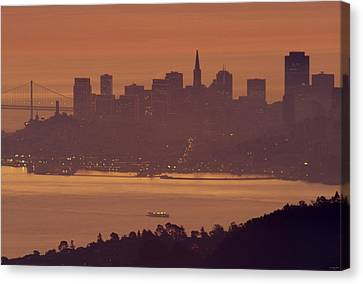 Sunrise Over San Francisco Canvas Print by Soli Deo Gloria Wilderness And Wildlife Photography