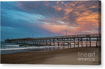 Sunset Over The Atlantic Canvas Print