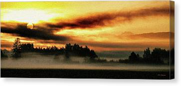 Sunrise Over The Cascades Canvas Print by DMSprouse Art