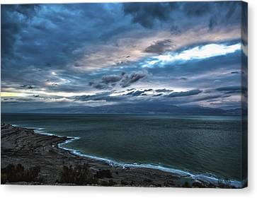 Sunrise Over The Dead Sea Israel Canvas Print by Reynold Maines