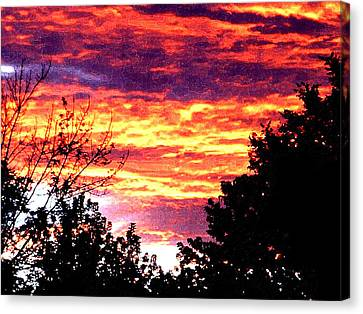 Sunrise Over The S.p. Canvas Print by Nathaniel Hoffman