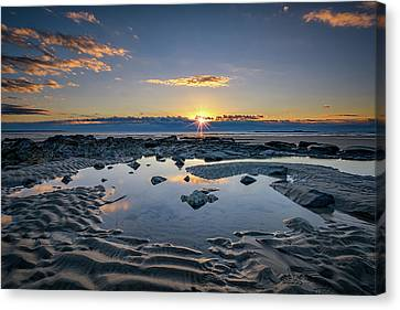 Canvas Print featuring the photograph Sunrise Over Wells Beach by Rick Berk