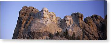 Democracy Canvas Print - Sunrise Panoramic Image Of Presidents by Panoramic Images