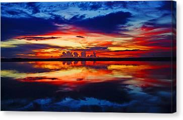 Sunrise Rainbow Reflection Canvas Print