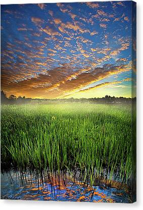 Natur Canvas Print - Sunrise Reflected by Phil Koch