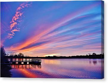 Sunrise Reflecting Canvas Print