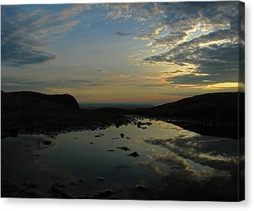 Maine Mountains Canvas Print - Sunrise Reflection Cadillac Mountain by Juergen Roth