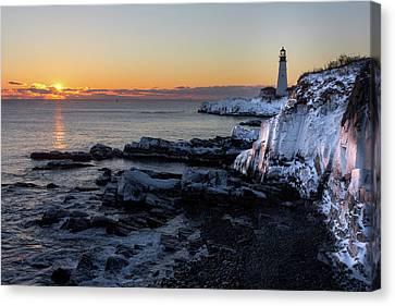 Sunrise Reflection Canvas Print