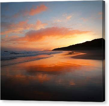 Canvas Print featuring the photograph Sunrise Reflection by Roy McPeak