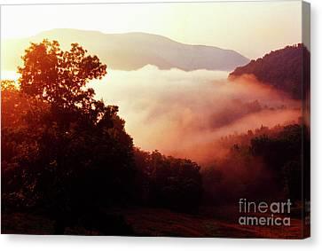 Sunrise Rich Mountain Canvas Print by Thomas R Fletcher
