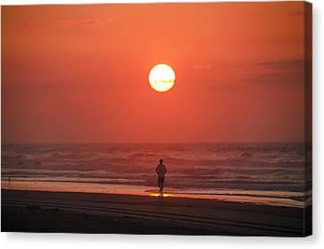 Jogging Canvas Print - Sunrise Run by Bill Cannon