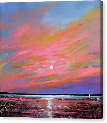 Sunrise Sail Canvas Print by Toni Grote