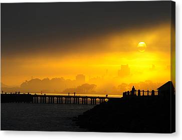 Canvas Print featuring the photograph Sunrise San Francisco by Steve Siri