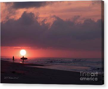 Sunrise Surfer Canvas Print