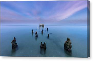 Canvas Print featuring the photograph Sunrise Symmetry by Mike Lang