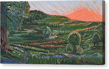Sunrise Touch Canvas Print by Felicia Tica