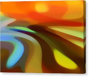 Sunrise Valley Canvas Print by Amy Vangsgard