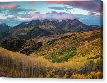 Sunrise View Of Mount Timpanogos Canvas Print by James Udall