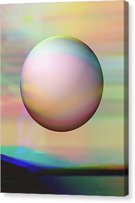 Canvas Print featuring the digital art Sunrise Visitor by Wendy J St Christopher