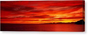 Sunrise, Water, Mulege, Baja Canvas Print by Panoramic Images