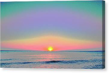 Sunrise With Digits Canvas Print by Cloe Couturier