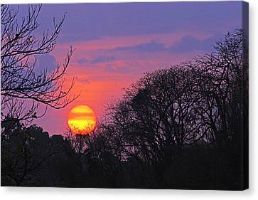 Sunset 1-st Lucia Canvas Print