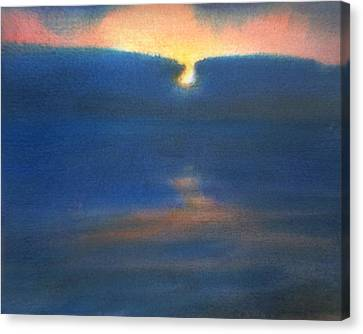 Canvas Print featuring the painting Sunset 1 by Valeriy Mavlo