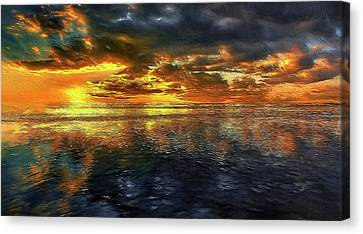 Sunset #95 Or Sunset Over The Atlantic. Canvas Print