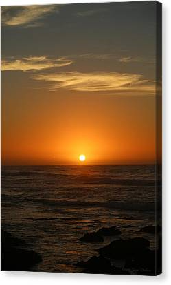 Sunset 12 03 16 Two Canvas Print