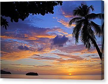 Sunset 2-st Lucia Canvas Print