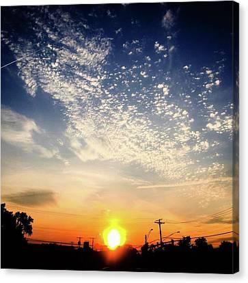 Sunset 25 May 16 Canvas Print