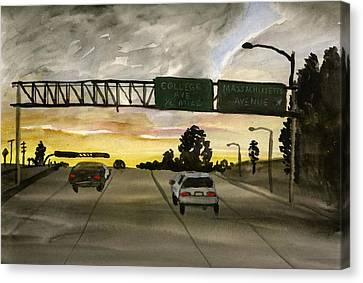 Sunset #28 Freeway Canvas Print