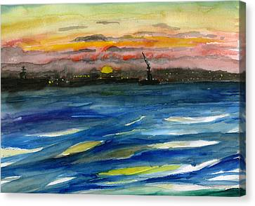 Sunset 29 San Diego Harbor Canvas Print