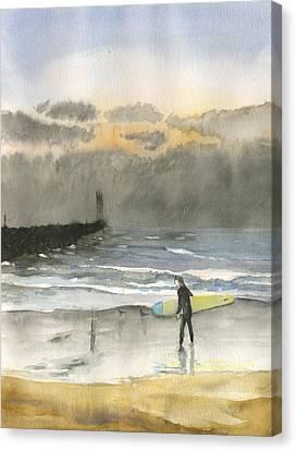 Sunset 34 Mission Beach Canvas Print