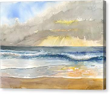Sunset 35 Crown Of Coronado Canvas Print