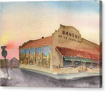Sunset 38 Grove Pastry Shop Canvas Print
