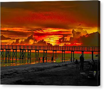 Sunset 4th Of July Canvas Print by Bill Cannon