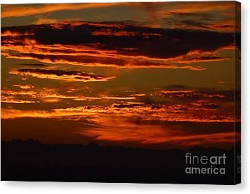 Sunset 5 Canvas Print by Jean Bernard Roussilhe