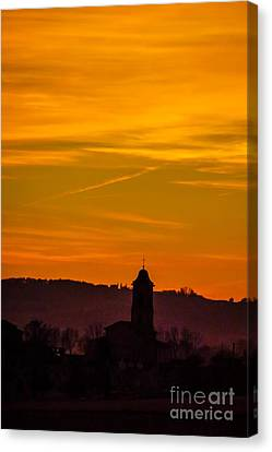 Sunset 6 Canvas Print by Jean Bernard Roussilhe