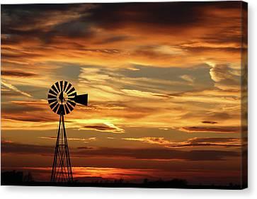 Windmills Canvas Print - Sunset 67 by Chris Harris
