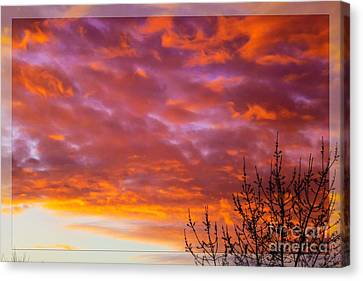 Sunset 7 Canvas Print by Jean Bernard Roussilhe
