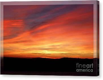 Sunset 9 Canvas Print by Jean Bernard Roussilhe