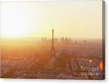 Sunset Above Paris Canvas Print by Anastasy Yarmolovich