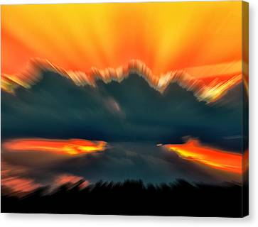 Sunset Abstract Canvas Print by Chris Flees