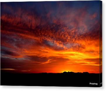 Sunset Canvas Print by Adam Jones