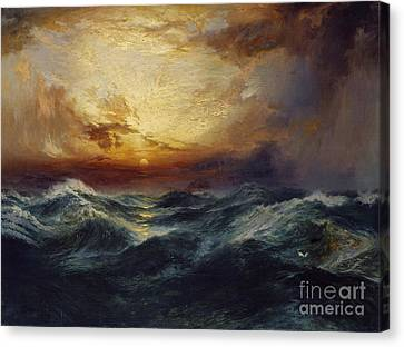 Sunset After A Storm Canvas Print by Thomas Moran