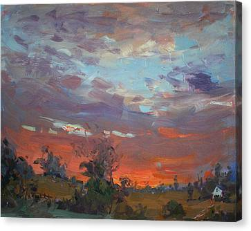 Sunset After Thunderstorm Canvas Print by Ylli Haruni