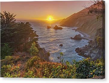 Sunset Along Highway 1 Big Sur California Canvas Print